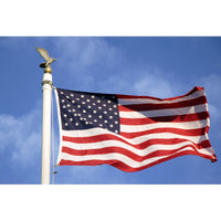 10' x 19' Nylon Outdoor American Flag (Fully Sewn & Lock Stitched) with Rope & Thimbles