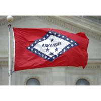 5' x 8' Nylon Arkansas Flag with Brass Grommets