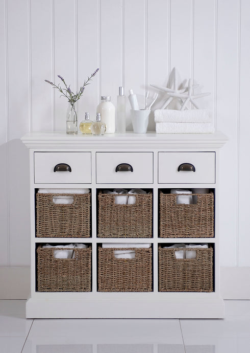 Woven Basket Storage Units
