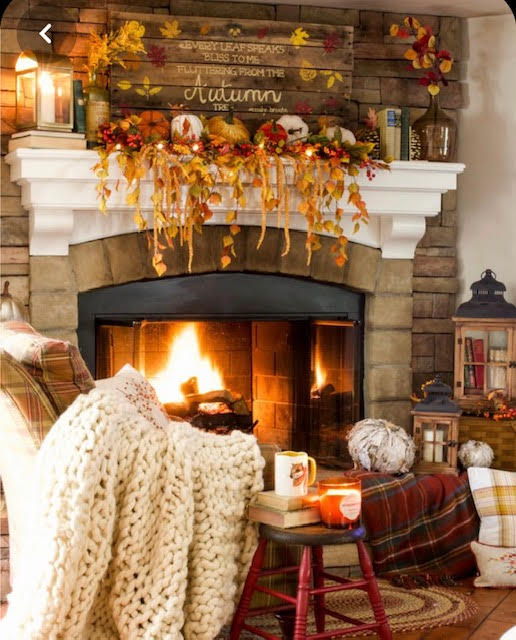 Cosy Autumnal Fireplace