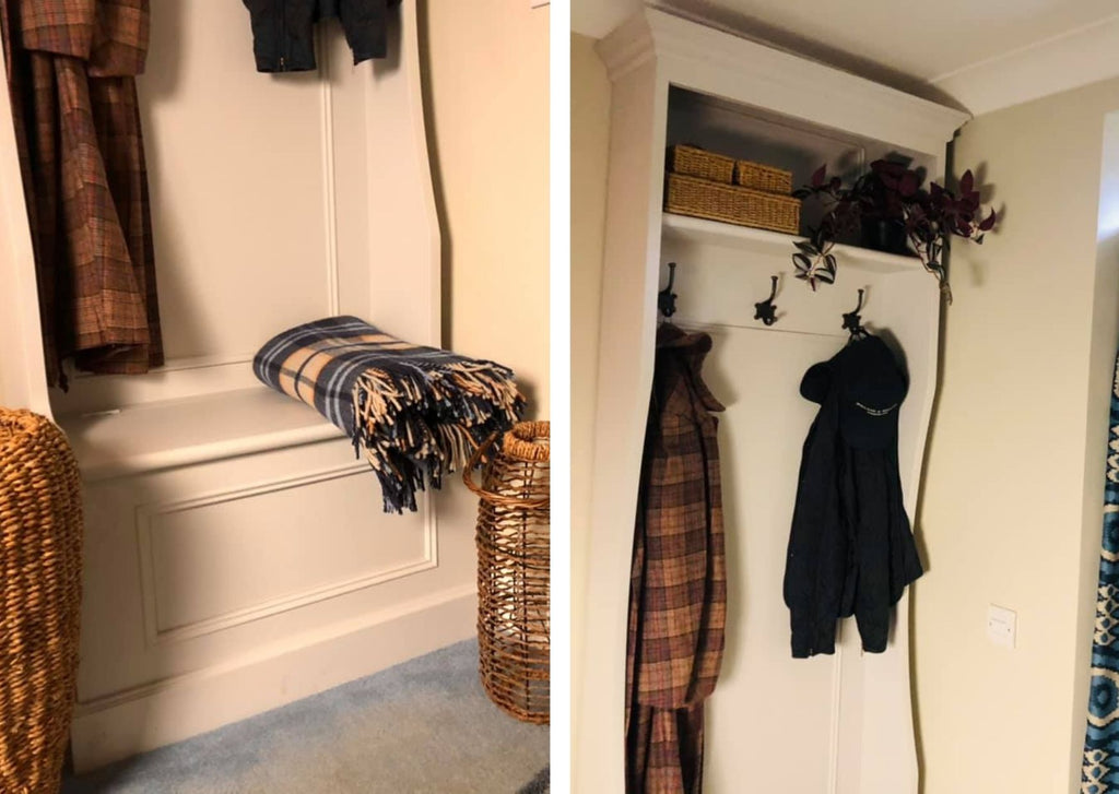 Built in Storage Coat and Boot Stand