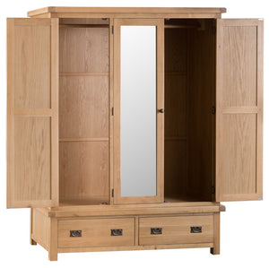 Claudio 3 Door Wardrobe with Mirror