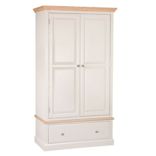 Country Bedroom 2 Door 1 Drawer Wardrobe
