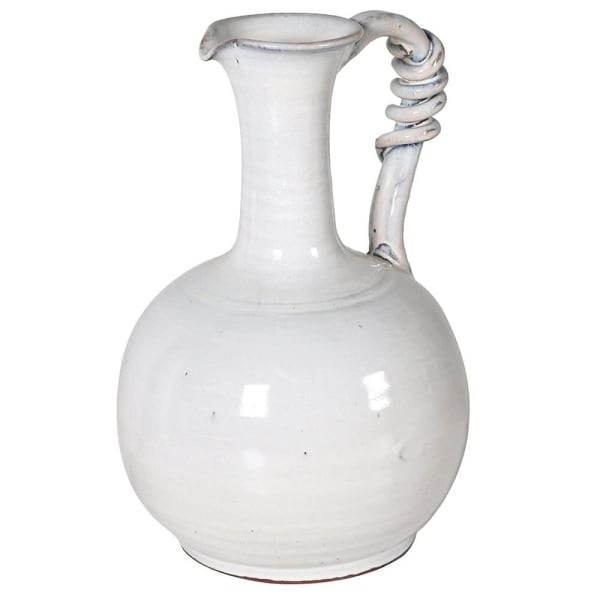 White Ceramic Jug With Handle