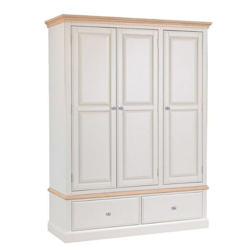 Country Bedroom 3 Door 2 Drawer Wardrobe