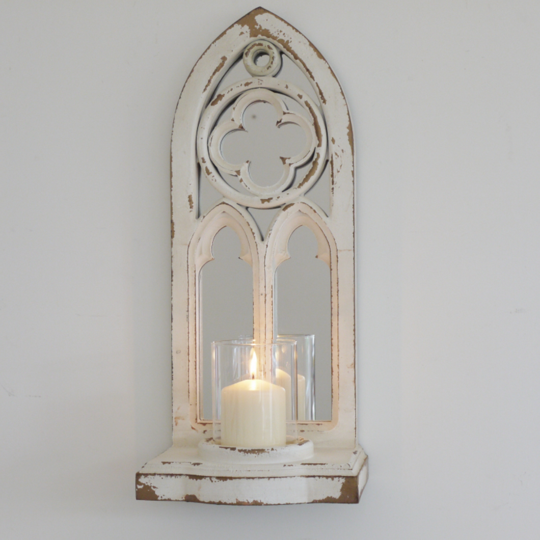 Arched Mirror & Candle Holder