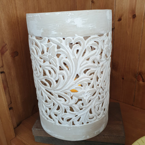 White cut out Lantern