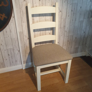 Ladder back dining Chairs - painted - SUMMER-SALE
