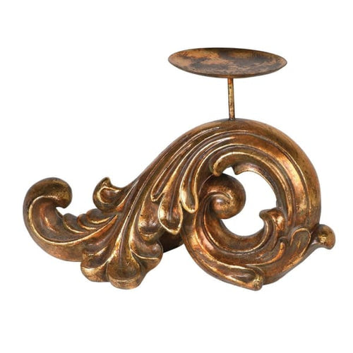 Gold Baroque Candle Holder