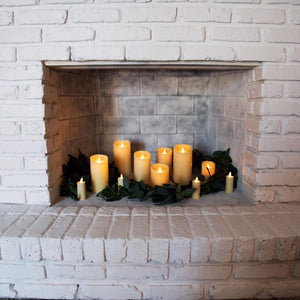 Luminara Magical Flame effect ivory waxed Candles