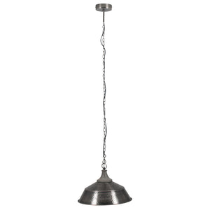 Antique Silver Hammered Pendant Light