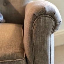 Linen Cosy Chair with Piping 'The Benson'