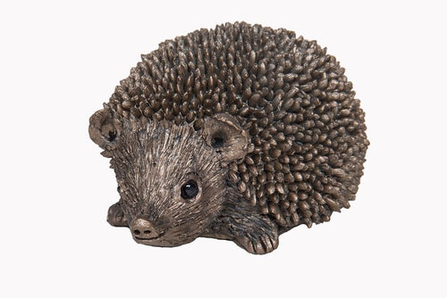 Squeak Hedgehog on a Mission - Bronze Resin