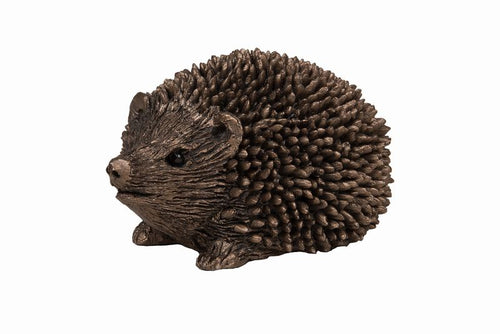 Prickly Hoglet Walking - Bronze Resin