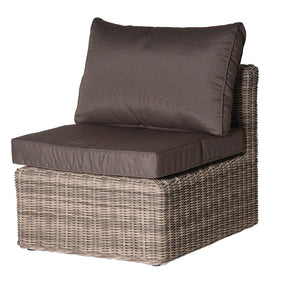 Rattan middle chair with cushions