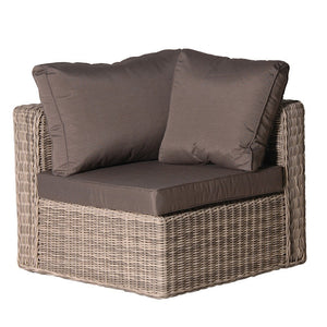 Rattan corner chair with cushions
