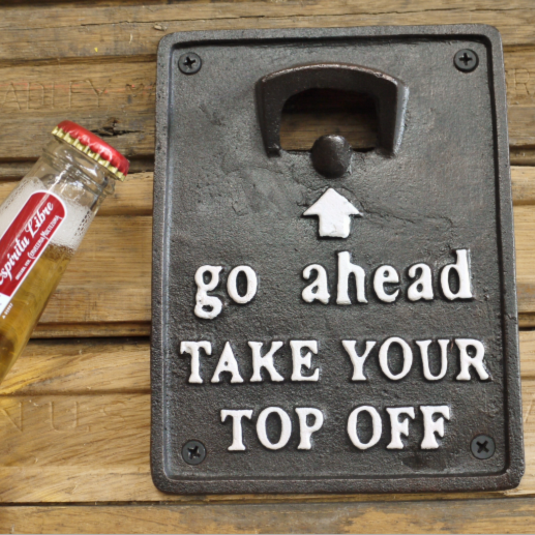 Bottle opener - Take your top off
