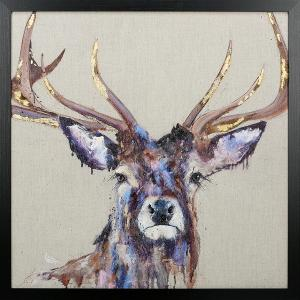 Brindle Stag Framed Art