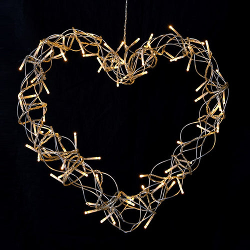 Heart lit wreath