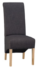 Scroll Back Fabric Chair - Available in a Range of Fabrics