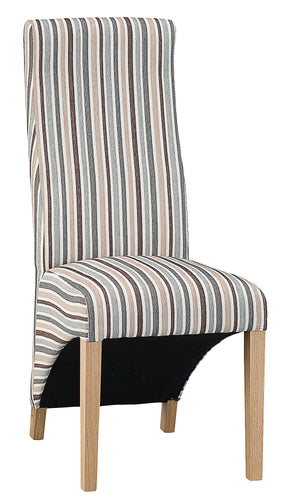 Straight Back Fabric Chair - Available in a Range of Fabrics