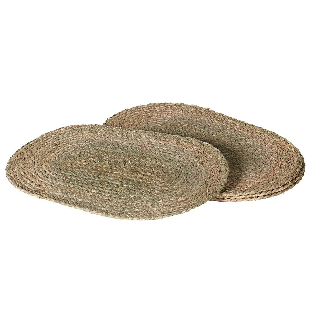 Set 4 Oval Seagrass Placemats