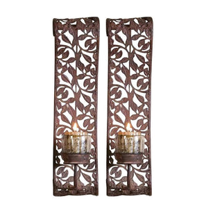 Leaf design wall sconces