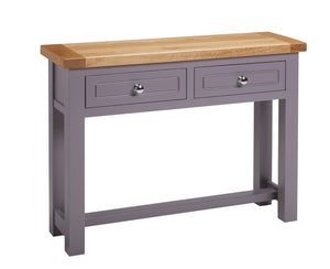 Brittany 2 Drawer Console Table - Painted or Wood Finish