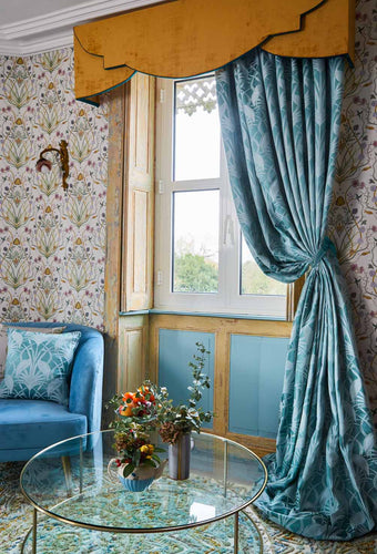 Heron Teal - Ready Made Curtains