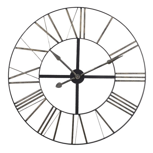 Distressed Metal Skeleton Wall Clock
