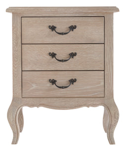 French Country 3 Drawer Bedside