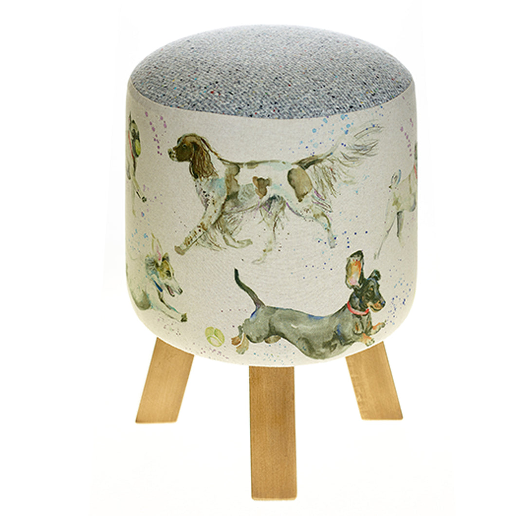 Dashing Dogs Footstool