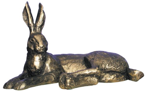 Hermione Hare Lying - Bronze Resin