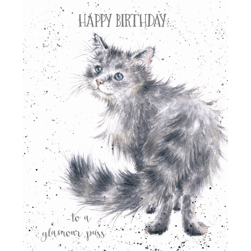Glamour Puss Wrendale designs - card