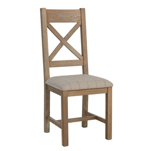 Hodsow Oak Dining Chair Cross Back - Seat Options