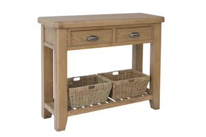 Hodsow Oak Console Table