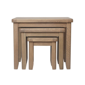 Hodsow Oak Nest of 3 Table