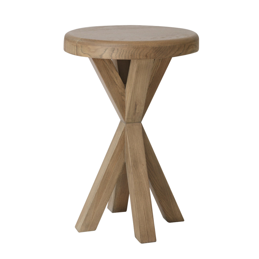 Hodsow Oak Round Side Table