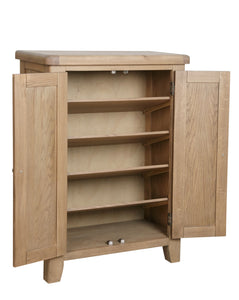 Hodsow Oak Shoe Cupboard