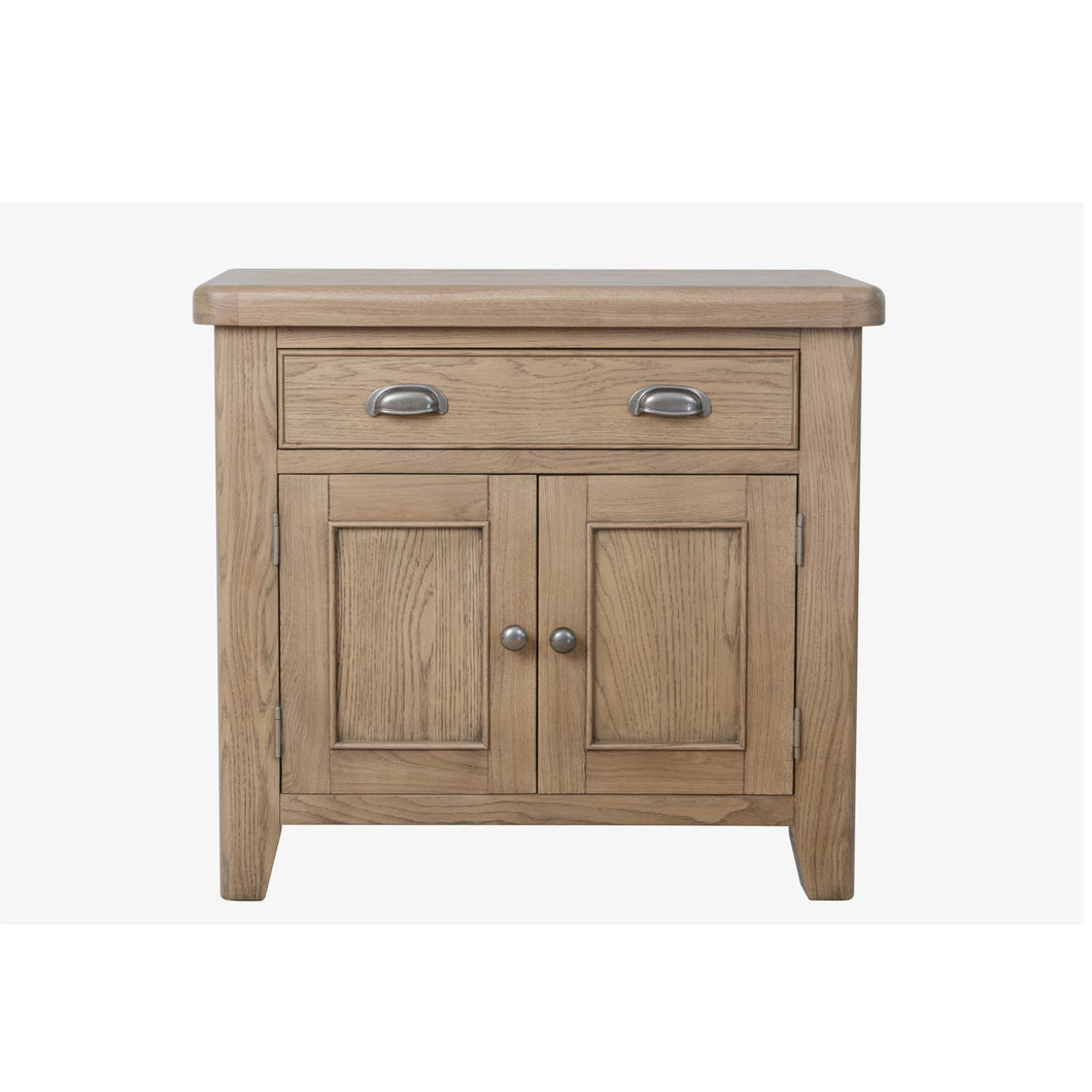 Hodsow Oak 1 Drawer, 2 Door Sideboard
