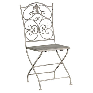 Grey Wash metal chair