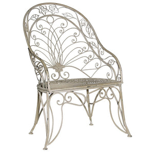 The Cindy Garden Chair - Greywash Metal