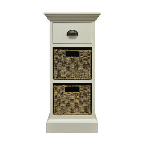 Woven 1 Drawer 2 Basket Unit