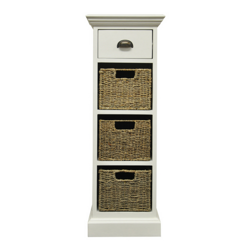 Woven 1 Drawer 3 Basket Unit
