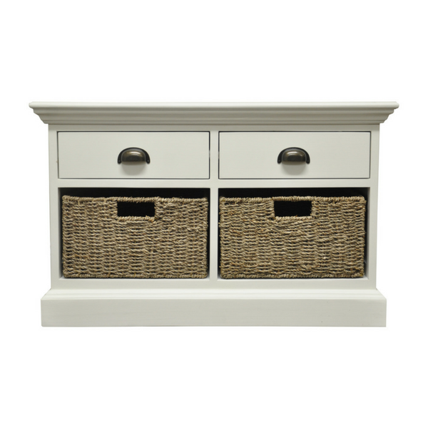 Woven 2 Drawer 2 Basket Unit