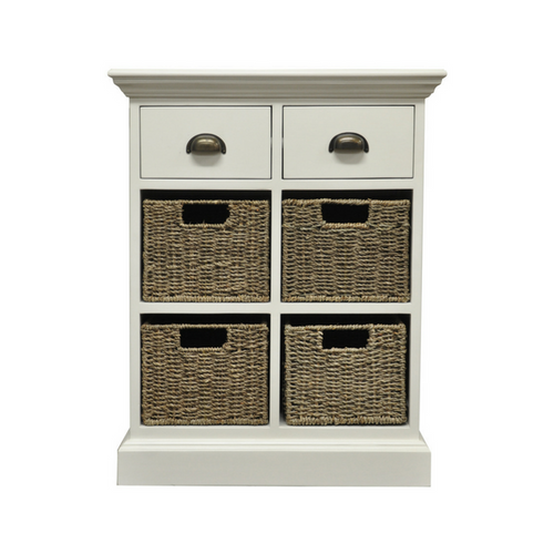 Woven 2 Drawer 4 Basket Unit