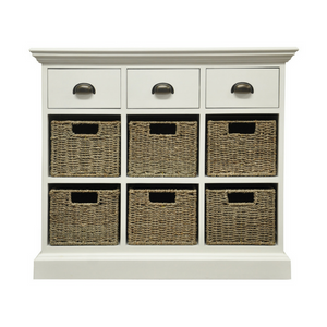 Woven 3 Drawer 6 Basket Unit