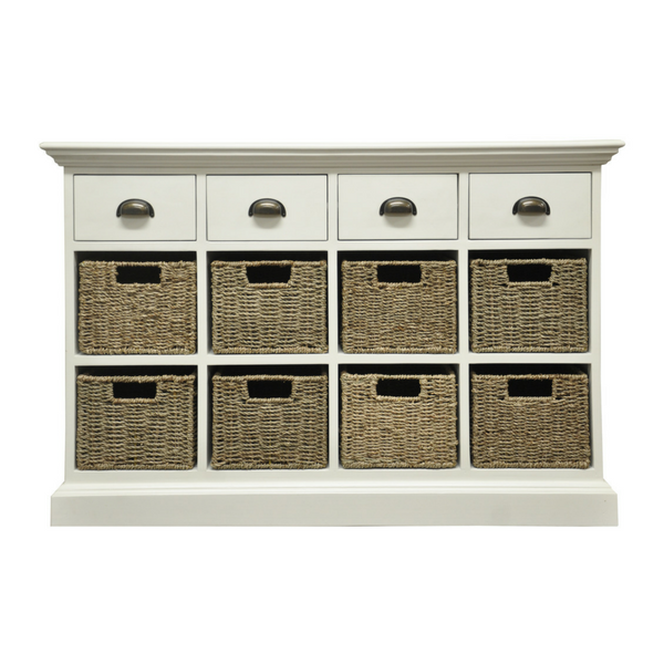 Woven 4 Drawer 8 Basket Unit