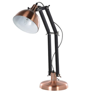 Copper and Black Angled Table Lamp