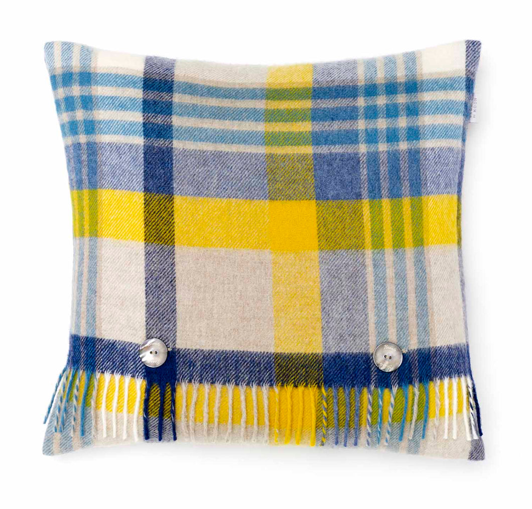 Melbourne Blue/Yellow Cushion